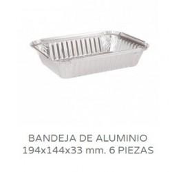 BANDEJAS ALUMINIO CANELONES 6 PIEZAS PAQ 100UNID