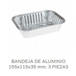 BANDEJAS ALUMINIO CANELONES 3 PIEZAS CANTO ALTO PAQ 100UNID
