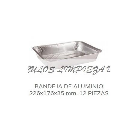 BANDEJAS ALUMINIO 12 PIEZAS CANTO ALTO 100U PACK