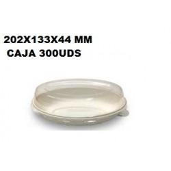 PLATO HONDO CAÑA AZUCAR  203 x 133 x 40 mm 50U