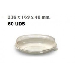 PLATO HONDO CAÑA AZUCAR  236 x 169 x 40 mm 50U