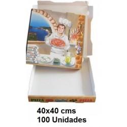 CAJA PIZZA 40*40 PAQ100U