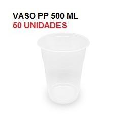 VASO TRANSPARENTE 500CC PP 50U