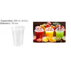 VASO TRANSPARENTE 266 CC PET 50U