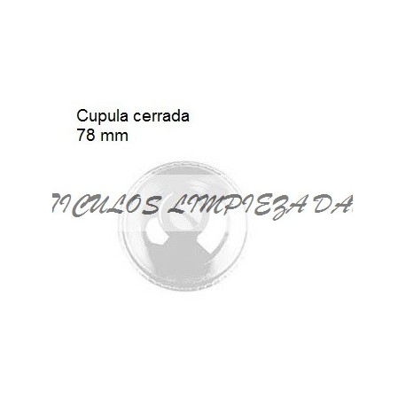 TAPA VASO 78 MM CUPULA CERRADA TRANSPARENTE 100U