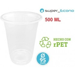 VASO TRANSPARENTE 500 CC PET 50U