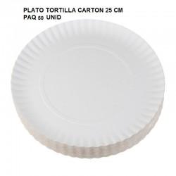 PLATO CARTON TORTILLA 25cm 50 UNID